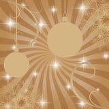 Rétro carte de Noël avec des décorations et des boules de Noël illustration libre de droits