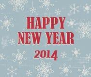 Rétro carte de Noël simple avec des flocons de neige Photographie stock libre de droits