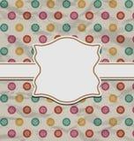 Rétro carte de Noël sur la texture de flocons de neige Photographie stock libre de droits