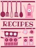 Rétro carte de recette Photo stock