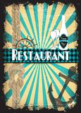 Rétro carte de restaurant Photo stock