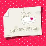 Rétro carte de Saint Valentin illustration libre de droits