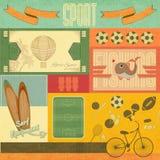 Rétro carte de sport illustration de vecteur