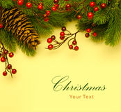 Rétro carte de voeux d'Art Christmas Image libre de droits
