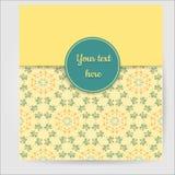 Rétro carte de voeux jaune illustration stock