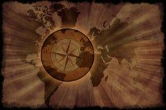 Rétro carte du monde Photo libre de droits