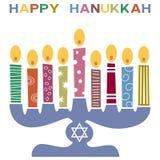 Rétro carte heureuse de Hanukkah [3] Image libre de droits