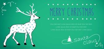 Rétro carte postale de Noël Images stock
