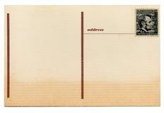 Rétro carte postale de vintage Photos stock