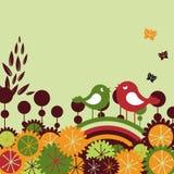 Rétro cartes de voeux Image stock