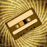 Rétro cassette sonore image stock