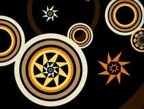 Rétro cercles abstraits illustration stock