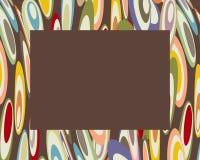 Rétro cercles colorés faussés b0rder illustration libre de droits