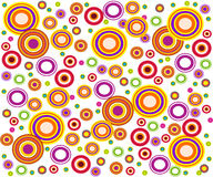 Rétro cercles de type Photo libre de droits