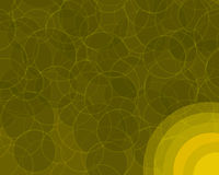 Rétro cercles oranges Backgroun Photo libre de droits