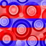 Rétro cercles rouges et bleus illustration de vecteur