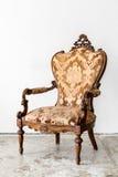 Rétro chaise de Brown Photo stock