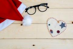 Rétro chapeau modifié la tonalité de Santa Claus Photographie stock