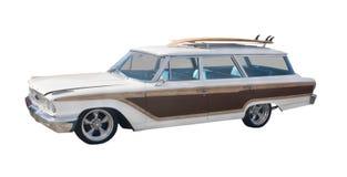 Rétro chariot de woodie de surfer Image stock