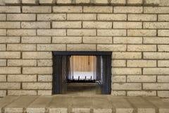 Rétro cheminée de brique Photo stock