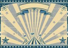 Rétro cirque bleu horizontal illustration stock