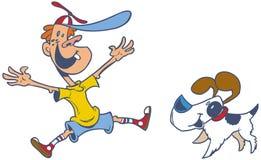 Rétro clipart (images graphiques) de bande dessinée de vecteur de style d'un b sautant Image libre de droits