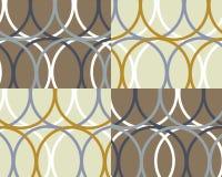 Rétro collage coloré de cercles illustration de vecteur