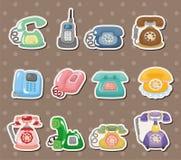 Rétro collants de téléphone Image stock