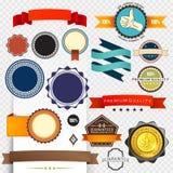Rétro collection d'étiquette Image libre de droits