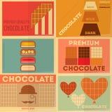 Rétro collection d'affiches de chocolat Photo stock