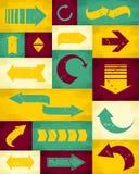 Rétro collection de flèches Image libre de droits