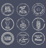 Rétro collection de labels de pizza Image libre de droits