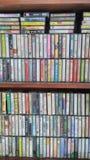 Rétro collection merveilleuse de cassettes photo libre de droits