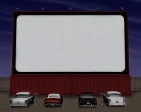 Rétro commande de salle de cinéma d'années '50 dans l'illustration Photos libres de droits