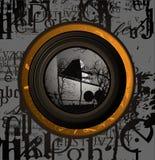 Rétro composition légère intérieure d'abstrait Image stock