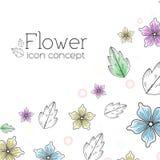 Rétro concept de fond de fleur Vecteur Image libre de droits