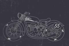 Rétro concept de moto Photo stock
