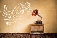 Rétro concept de musique Image libre de droits
