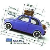 Rétro conception bleue de véhicule Images libres de droits