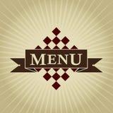 Rétro conception dénommée de MENU Image stock