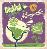 Rétro conception d'affiche pour un des cocktails de les plus populaires Image stock