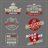 Rétro conception d'insigne de vintage pour l'affiche, écran de T-shirt illustration de vecteur
