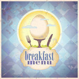Rétro conception de carte de carte de déjeuner. illustration de vecteur