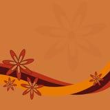 Rétro conception de fleur Photos libres de droits