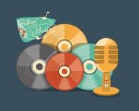 Rétro conception de musique illustration de vecteur