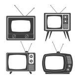 Rétro conception de télévision Photographie stock