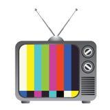 Rétro conception de télévision d'isolement sur le blanc Photo libre de droits