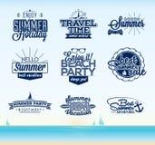 Rétro conception de typographie d'été Photographie stock libre de droits