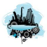 Rétro conception de ville Images stock