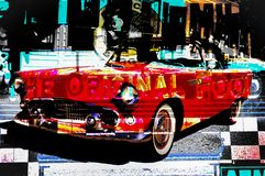 RÉTRO conception de voiture au wagon-restaurant américain illustration de vecteur